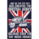"""""""GOD CREATED THE BRITISH ARMY"""" PRINTED NAVY 100% COTTON T-SHIRT MILITARY"""