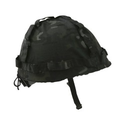 Kids Boys BTP BLACK Camo Army Helmet Fancy Dress Up Costume Military Soldier SAS