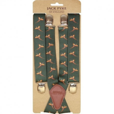Jack Pyke Elasticated Shooting Braces Pheasant Pattern - Shooting Clothing Accessories