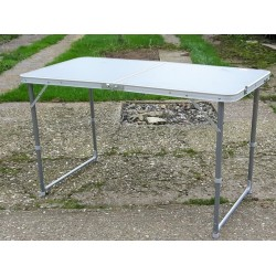 Ex Display Highlander Compact Folding Table Double Silver