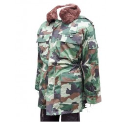 Genuine Surplus Serbian Camouflage Winter Parka Fur Collar Fur Lining