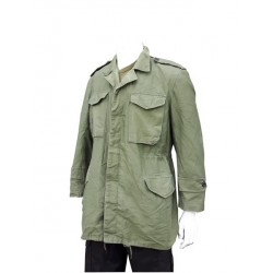 Genuine Surplus Greek Army Canvas Jacket Parka Olive Cotton Vintage