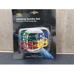 Ex Display Camping Laundry Line Travel Washingline with 8 pegs 713