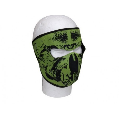 Neoprene Green Camo Face Mask Airsoft Paintball
