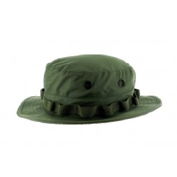 Waterproof Breathable Hard Wearing Folding Rain Hat Boonie Hat Green Tri-Laminate