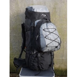 Factory Sample 65L Hiking Rucksack Large Travel Backpack Camping Sport Black 846