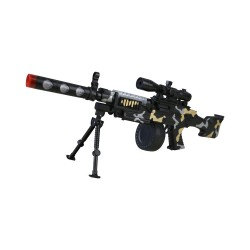 Kids Toy GPMG Machine Gun Army Commando Machine Pistol With Lights And Sounds Gift
