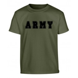 Boys Kids ARMY Print Army Military Combat T-shirt Top Cadet NEW Green Childrens