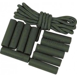 Viper Zip Puller Sleeve Set For Rucksacks Military Tactical Zipper Tabs Green