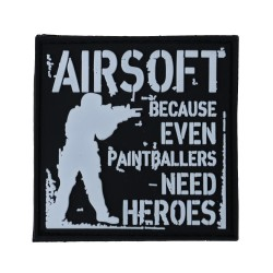 AIRSOFT PAINTBALLERS HEROES TACTICAL COMBAT MILITARY MORALE ARMY HOOK PATCH
