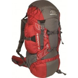 Ex Display 45L Large Rucksack Backpack Hiking Walking Camping Red 796