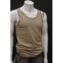 Mil-Tec by Sturm Plain Olive Vest Cotton Gym Tank Top Training Sleeveless New