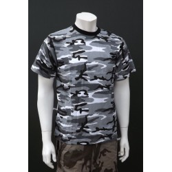 Mil-Tec by Sturm Urban Grey Camouflage T-Shirt 100% Cotton Mens Short Sleeve