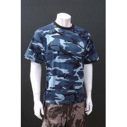 Mil-Tec by Sturm Midnight Blue Camouflage T-Shirt 100% Cotton Mens Short Sleeve