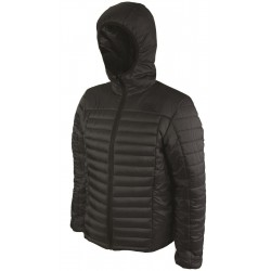Highlander Bara Insulated Hybrid Jacket Warm Thermal Quilted Packaway Mens Black