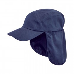 Highlander Legionnaires Hat Sun Hat Kepi Neck Flap Summer Cotton Peaked Navy