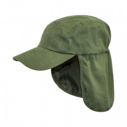 Highlander Legionnaires Hat Sun Hat Kepi Neck Flap Summer Cotton Peaked Olive