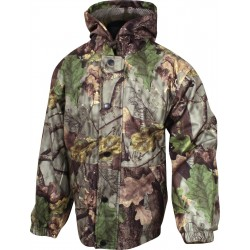 Jack Pyke Junior Hunters Jacket EVO Leaf Girls Boys Warm Fishing Camo Waterproof