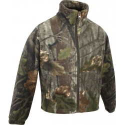 Jack Pyke Junior Fieldman Fleece Jacket EVO Leaf Girls Boys Warm Fishing Camo