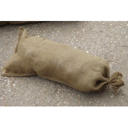 Hessian Sand Bags with Ring Ties 90x38cm Flood Protection Sack 1940s style