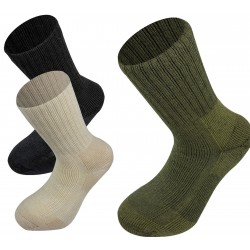 Highlander Norwegian Socks Mens Walking Hiking Outdoor Military Olive Black Wht