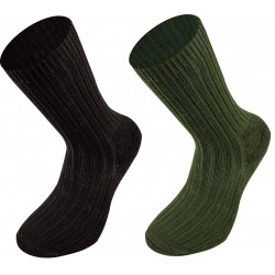 Highlander Combat Socks Mens Walking Hiking Outdoor Military Olive Black