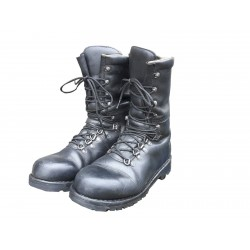 Genuine Surplus Austrian Winter Boots Heavy Duty Leather Fully Lined Army Black