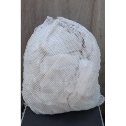 Genuine Surplus Dutch Laundry Bags Mesh Nylon Army Washing White Used Net