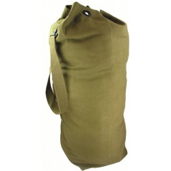 "NEW ARMY STYLE OLIVE HEAVY DUTY CANVAS KIT BAG 89 X31 CM 12"" DIAMETER BASE"