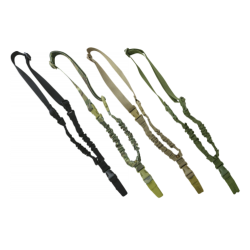 KT Single Point Tactical Bungee Adjustable Sling Airsoft Black Green Camo Coyote