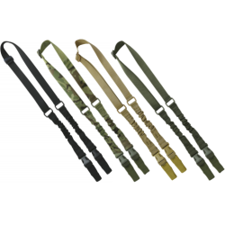 KT Double Point Tactical Adjustable Bungee Sling Airsoft Black Green Camo Coyote