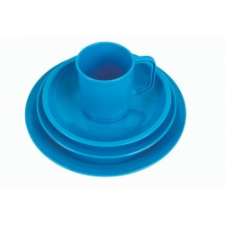 Highlander Plastic Camping Cup Mug Plate Bowl Cereal Tough Lightweight Aqua