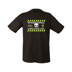 Zombie Hunting Permit T-Shirt Screen Printed Black 100% Cotton Airsoft Zombies