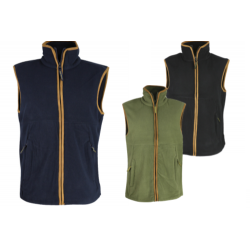 KT Kids Country Fleece Gilet Waistcoat Black Green Navy Children's