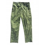 GS British Lightweight Trousers Ex-Army Olive Green Poly/Cotton Military Surplus