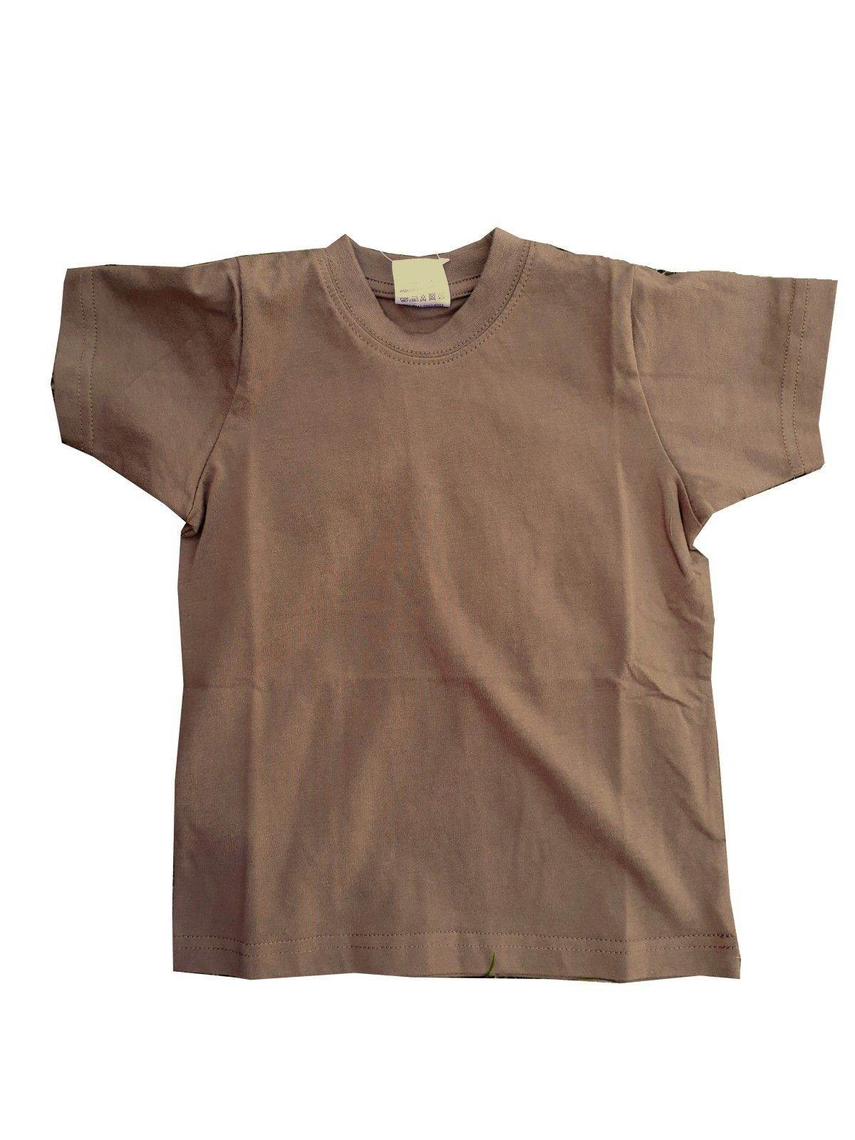 Highlander Kids Coyote Tan Military Style T-Shirt Army Forces Brown Child s 89fa1eb566c