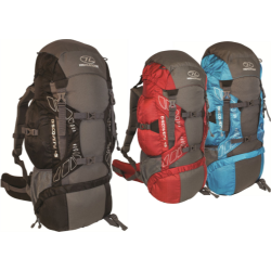 Highlander Discovery Rucksack 45L Hiking Walking Black Red Blue Backpack Light