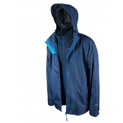 Highlander Torridon 3 in 1 Jacket Waterproof Windproof Fleece Coat Blue