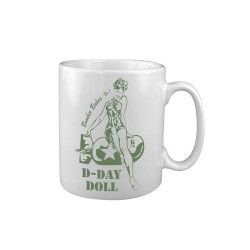 Tea Coffee Mug Drink Ceramic Kitchen New Military History Nose Art D Day Doll