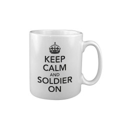 Tea Coffee Mug Drink Ceramic Kitchen New Military Army WW2 Keep Calm Soldier On