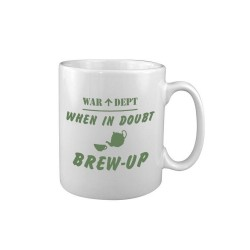 Tea Coffee Mug Drink Ceramic Kitchen New Military Army WW2 When in Doubt Brew Up