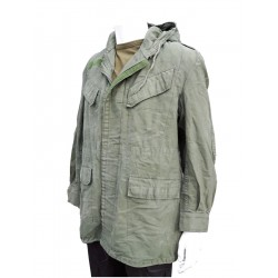 Genuine Surplus Belgian Parka Army Unlined Olive Green Canvas Cotton Vintage 176