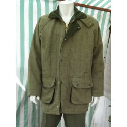 New Tweed Shooting Coat Country Wear Jacket Quilted Warm Green Large (193)
