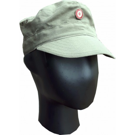 7df61fe37f6 GS VINTAGE AUSTRIAN ARMY OLIVE RIPSTOP FATIGUE   BASEBALL CAP ARMY HATS CAPS